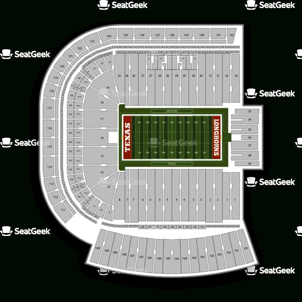 Darrell K Royal - Texas Memorial Stadium Seating Chart & Map   Seatgeek - Texas Memorial Stadium Map