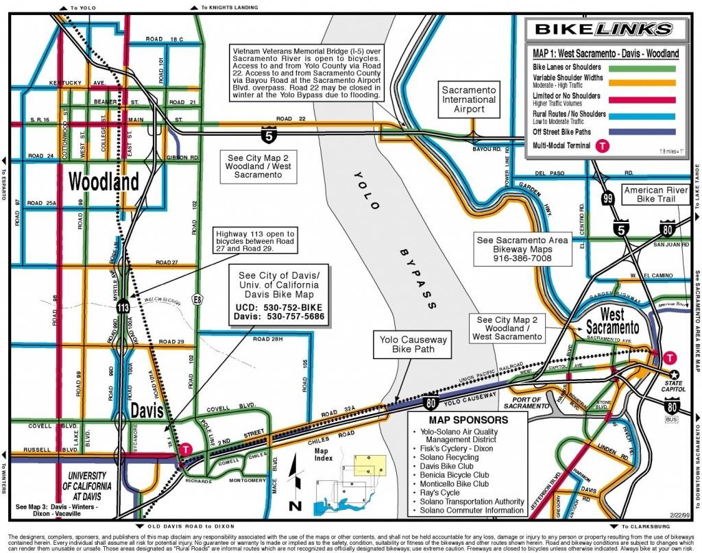 Davis California Bike Map - Davis Ca • Mappery - Davis California Map