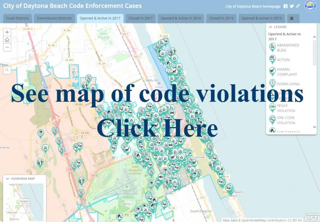 Daytona Beach, Fl - Official Website - Map Of Daytona Beach Florida