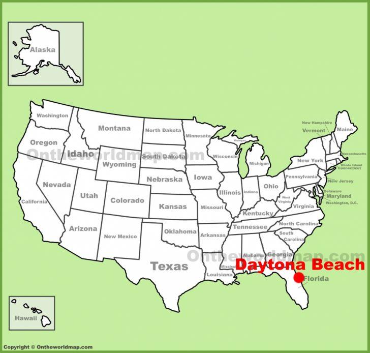 Map Of Daytona Beach Florida Area