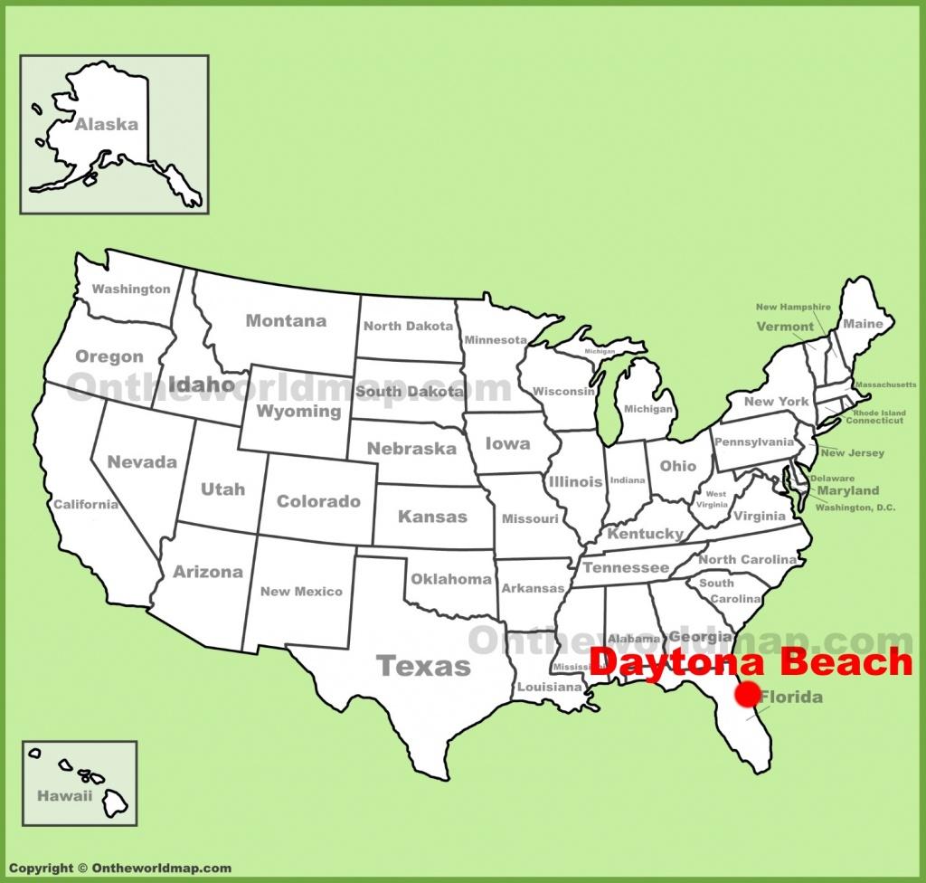 Daytona Beach Location On The U.s. Map - Map Of Daytona Beach Florida Area
