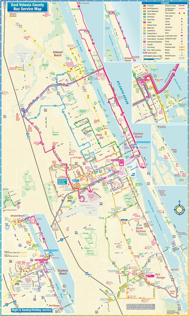 Daytona Beach Route Map - Street Map Of Ormond Beach Florida