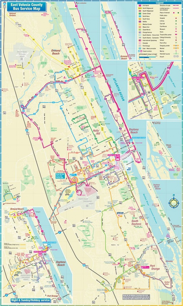 Daytona Beach Route Map | Vacation | Daytona Beach Florida, Daytona - Map Of Daytona Beach Florida Area