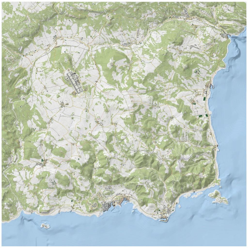 Dayz Sa/ 1.0 / Print Map / No Names / 4000X4000Px(141X141Cm - Printable Dayz Standalone Map