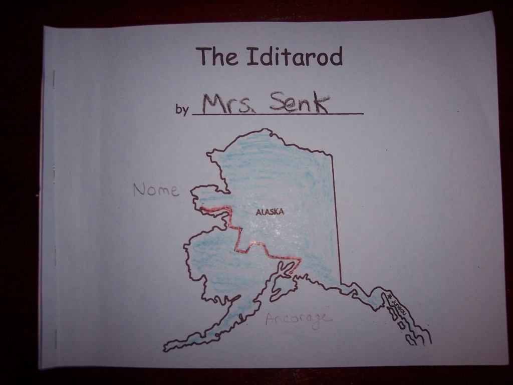 Dbsenk | Kindergarten Nana | Page 21 - Printable Iditarod Trail Map