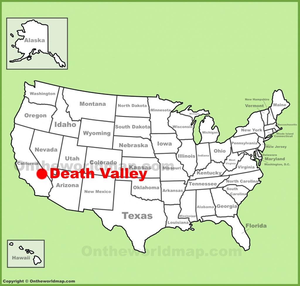 Death Valley Maps | Usa | Maps Of Death Valley National Park - Death Valley California Map