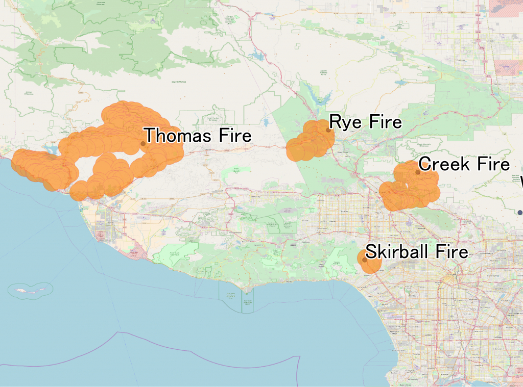 December 2017 Southern California Wildfires - Wikipedia - 2017 California Wildfires Map