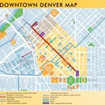 Denver Downtown Map   Denver City Map Printable