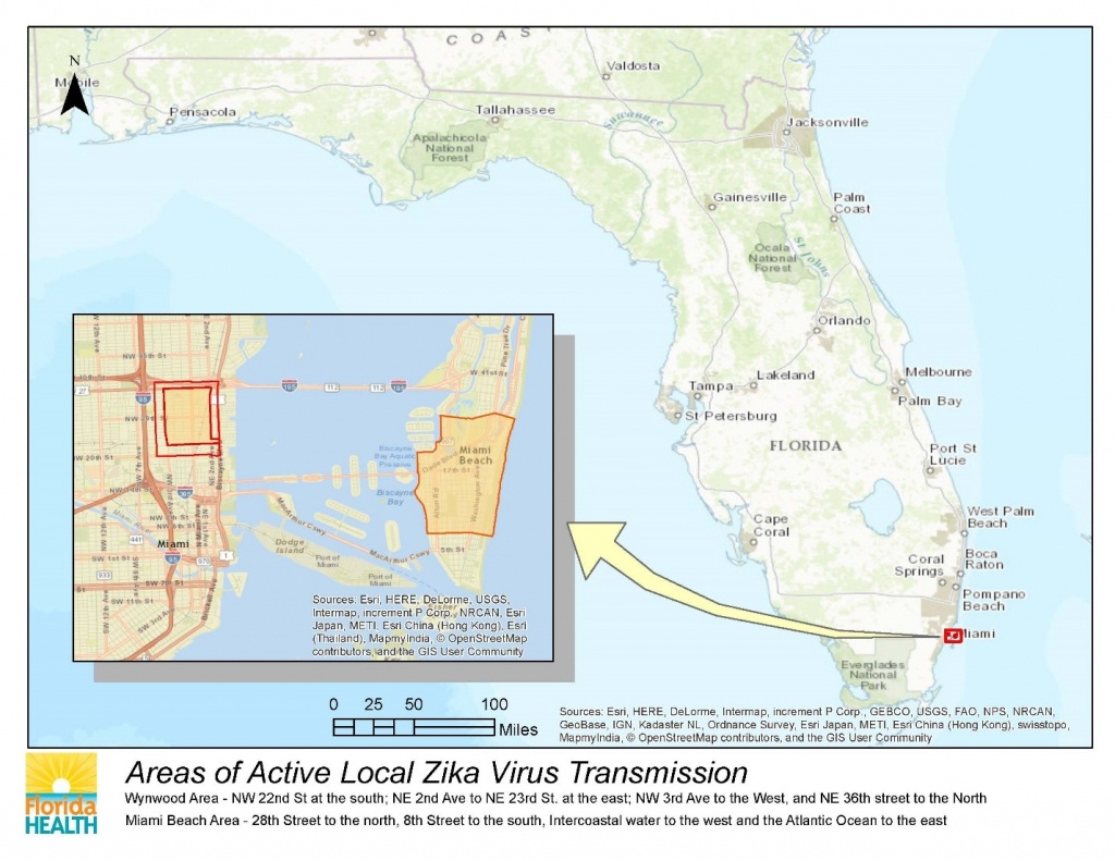 Department Of Health Daily Zika Update | Florida Department Of Health - Zika Virus Florida Map