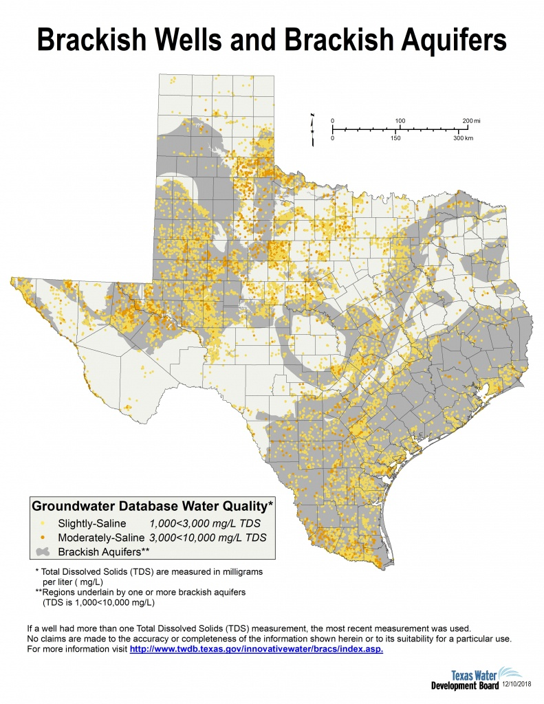 Desalination Documents - Innovative Water Technologies | Texas Water - Texas Water Development Board Well Map