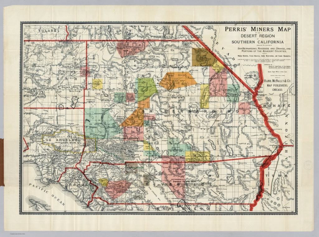 Desert Region Of Southern California - David Rumsey Historical Map - Map Of San Bernardino County California