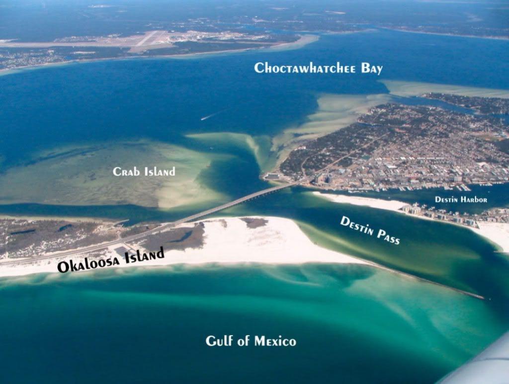 Destin, Fl   Travel   Destin Florida Vacation, Destin Florida - Crab Island In Destin Florida Map