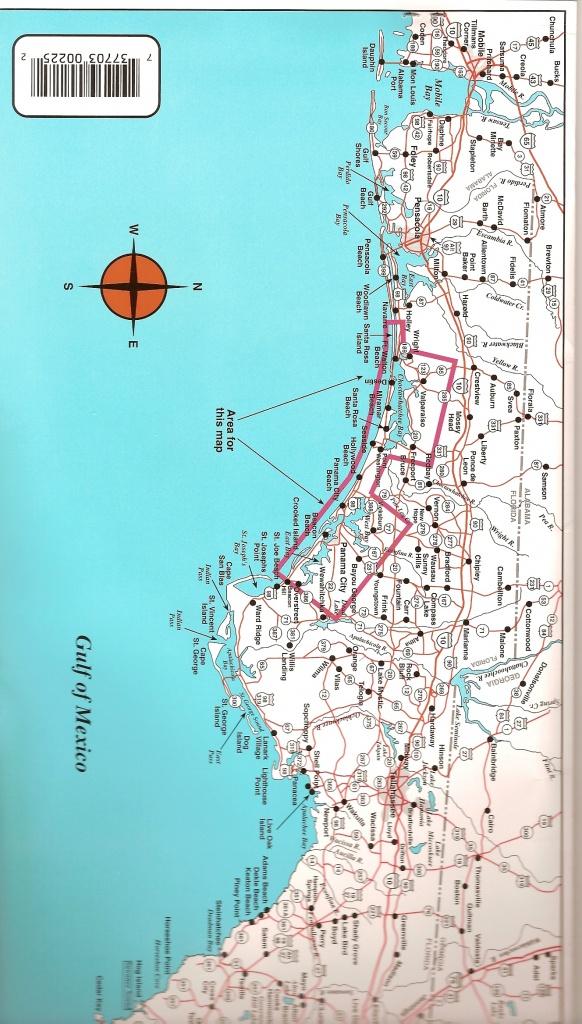 Destin To Panama City Top Spot Fishing Map, Keith Map Service, Inc. - Panama City And Destin Florida Map