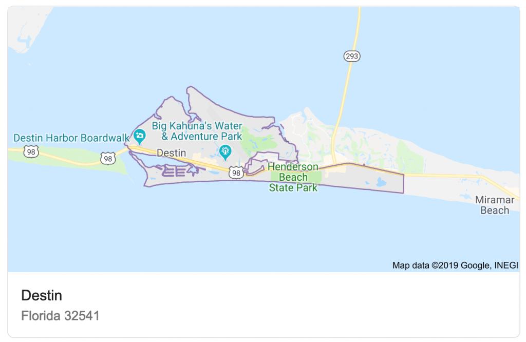 Destin Vs. Naples - Destin Florida Location On Map