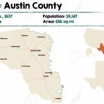 Detailed Map Of Austin County In Texas, United States   Austin County Texas Map