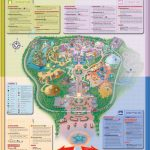 Detailed Map Of Hong Kong Disneyland Resort ? Four Themed Lands   Printable Disneyland Park Map