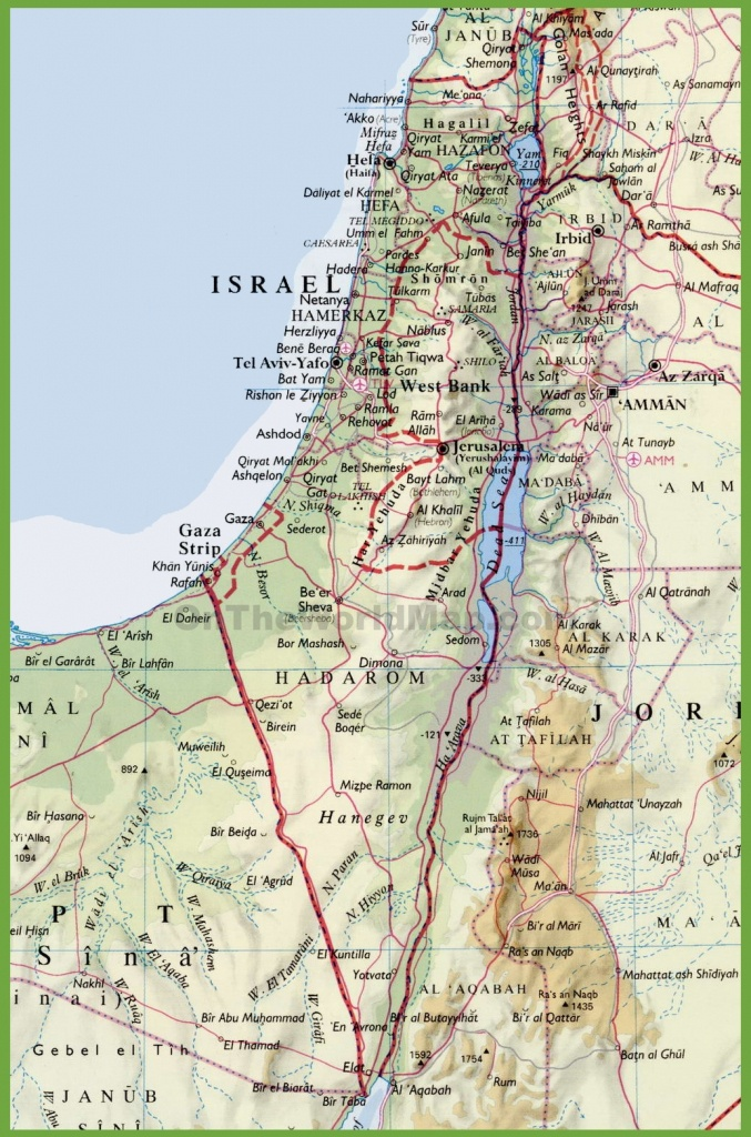 Detailed Map Of Israel With Cities - Printable Map Of Israel