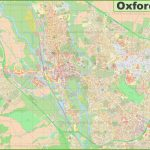 Detailed Map Of Oxford   Printable Map Of Oxford