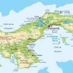 Detailed Map Of Panama |  Detailed Physical Map Of Panama. Panama   Printable Map Of Panama