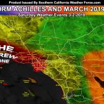 Detailed: March 2019 Weather Forecast Pattern For Southern   Southern California Weather Map