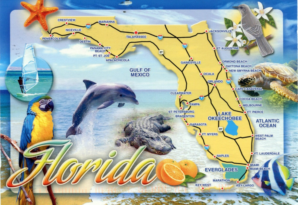 Detailed Tourist Map Of Florida State. Florida State Detailed - Florida Tourist Map