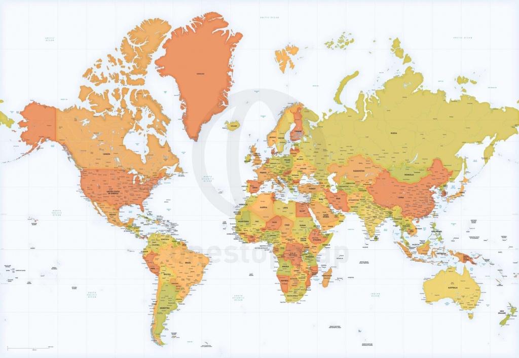 Detailed World Map Mercator Europe-Africa | Maps Of World | Detailed - Detailed World Map Printable