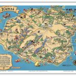 Details About Hawaii Island Map Kauai   White   1941 Vintage Travel   Printable Map Of Kauai