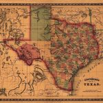 Details About Map Of Texas 1866 Antique State Map Rolled Canvas   Vintage Texas Map Framed