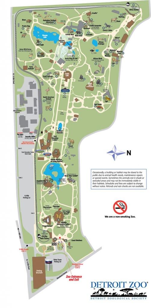 Detroit Zoo Map | Detroiter Not A Detracter. | Zoo Map, Detroit Zoo, Map - Printable Detroit Zoo Map