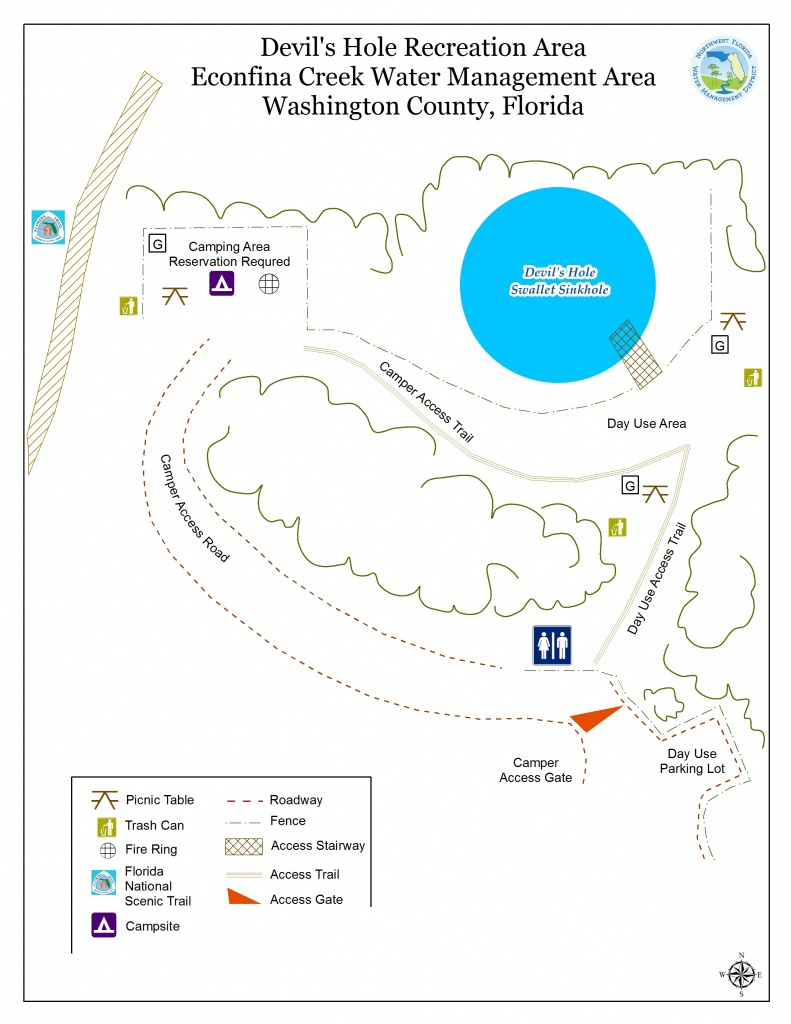 Devil's Hole   Northwest Florida Water Management District - Devil's Den Florida Map