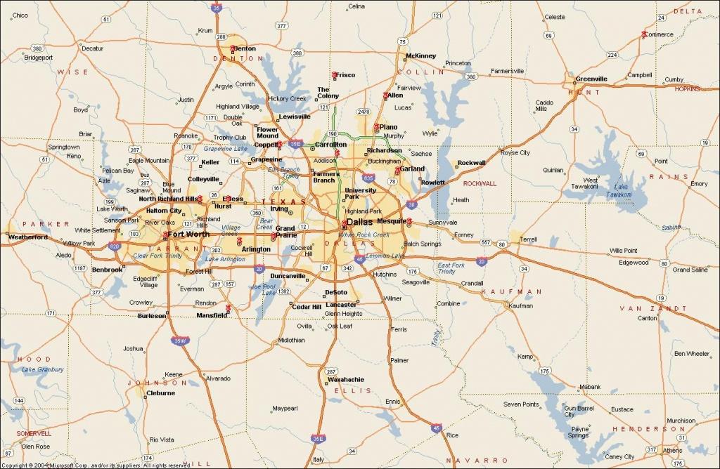 Dfw Metroplex Map - Dallas Fort Worth Metroplex Map (Texas - Usa) - Dallas Map Of Texas