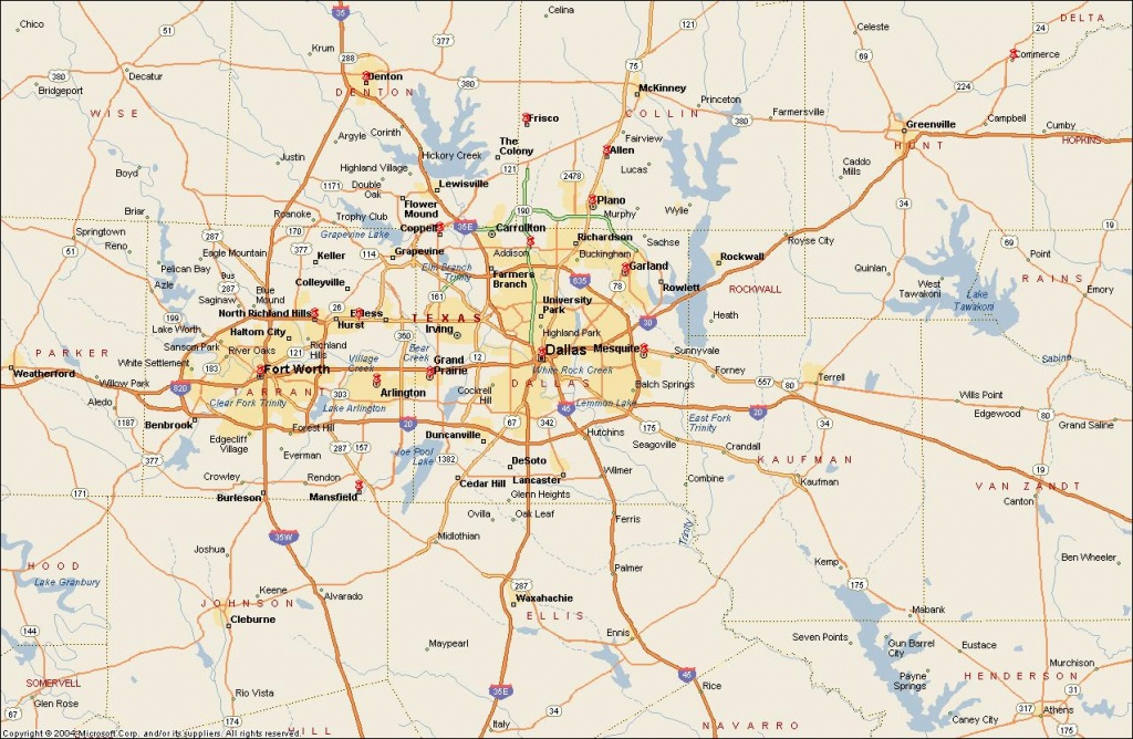 Dfw Metroplex Map - Dallas Fort Worth Metroplex Map (Texas - Usa) - Printable Map Of Dfw Metroplex