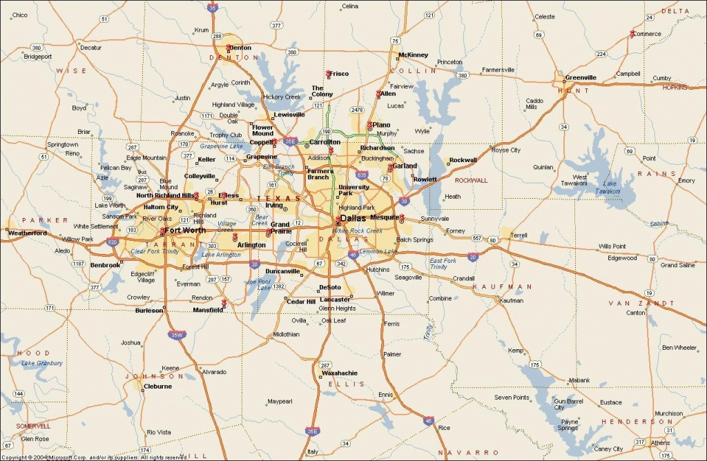 Dfw Metroplex Map - Map Of Dfw Metroplex Area (Texas - Usa) - Printable Map Of Fort Worth Texas