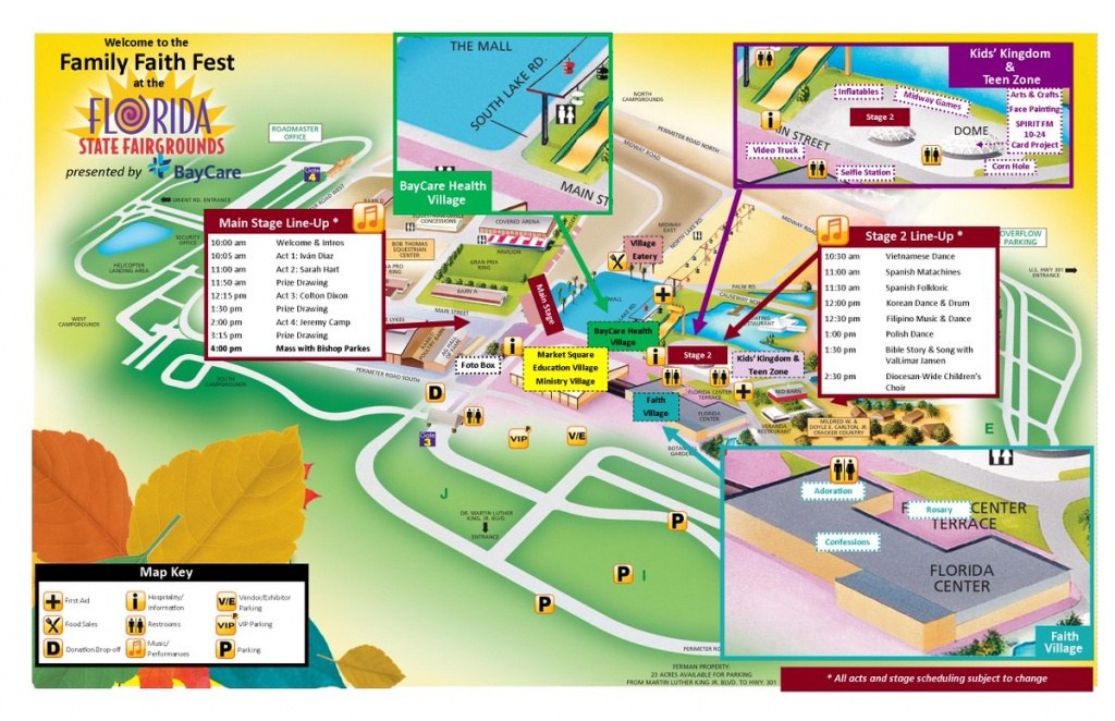 """Diocese Of St. Pete On Twitter: """"the Map For The New Location Of The - Florida State Fairgrounds Map"""
