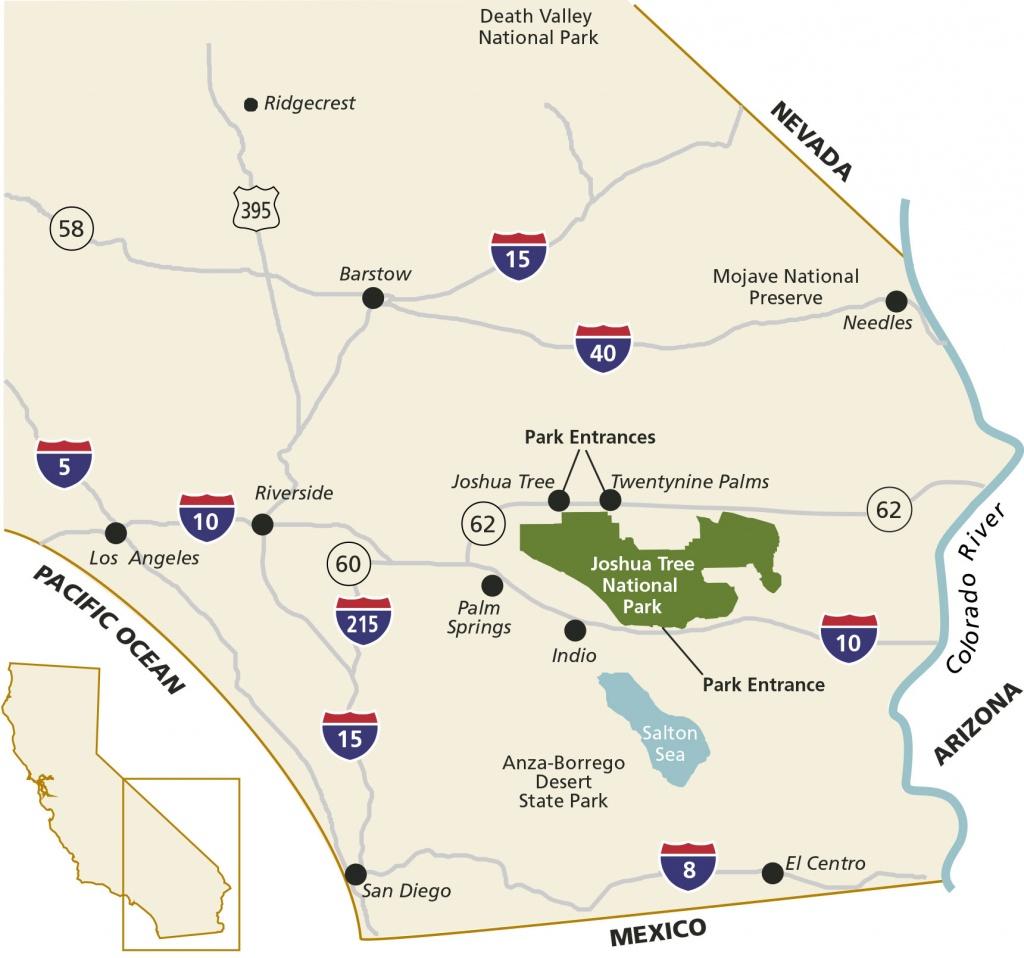 Directions & Transportation - Joshua Tree National Park (U.s. - Joshua Tree California Map