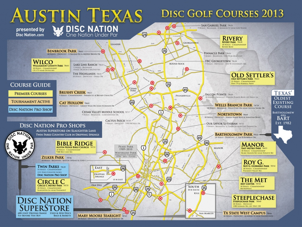 Disc Golf Superstore - Disc Nation, The Original - Texas Golf Courses Map