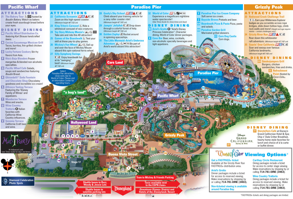 Disney California Adventure Map Pdf Outline Printable Map Disneyland - California Adventure Map 2017 Pdf