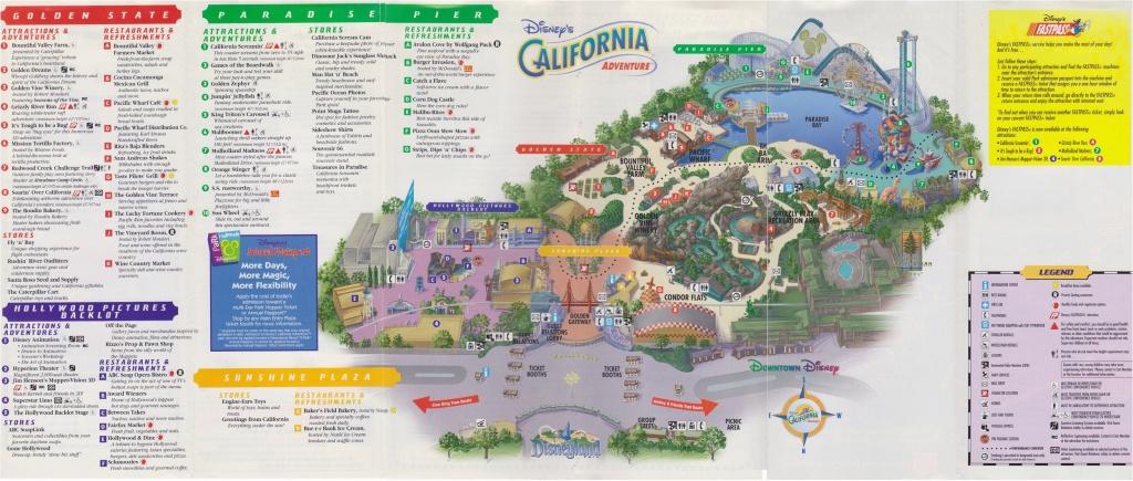 Disney California Adventure Map Pdf | Secretmuseum - Printable California Adventure Map