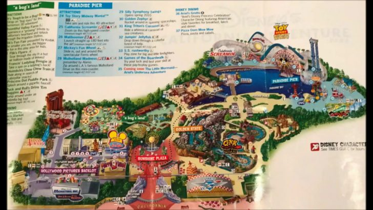 California Adventure Map