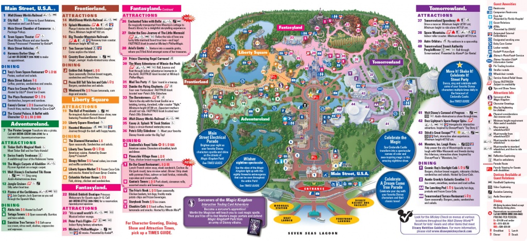 Disney Magic Kingdom In Orlando Florida - Map Of Magic Kingdom Orlando Florida