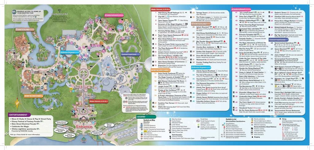 Disney-Magic-Kingdom-Map In 2019 | Virtual Magic Kingdom | Disney - Printable Magic Kingdom Map