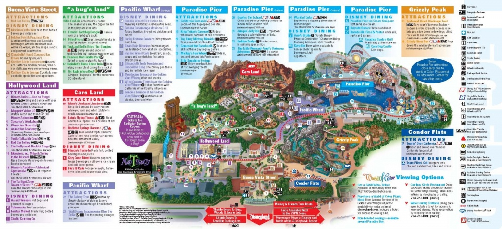Disney S California Adventure Park Clio And Adventures Map - Touran - Printable Disneyland Map 2014