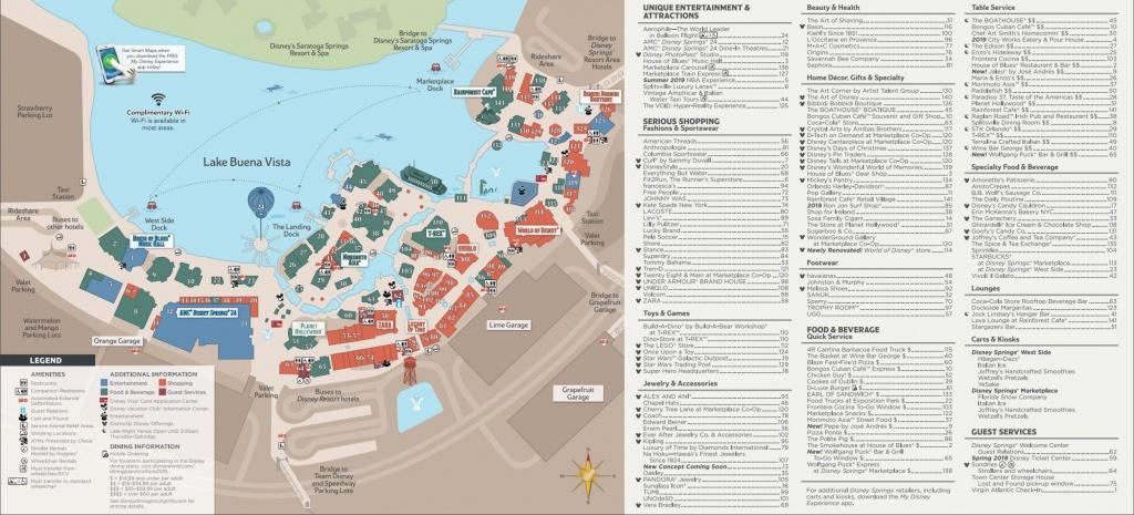 Disney Springs Map - Walt Disney World - Disney Springs Map Printable