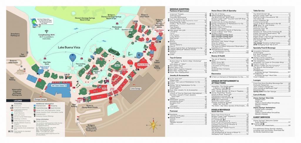 Disney Springs : The Ultimate Guide • Wdw Travels - Disney Springs Map Printable