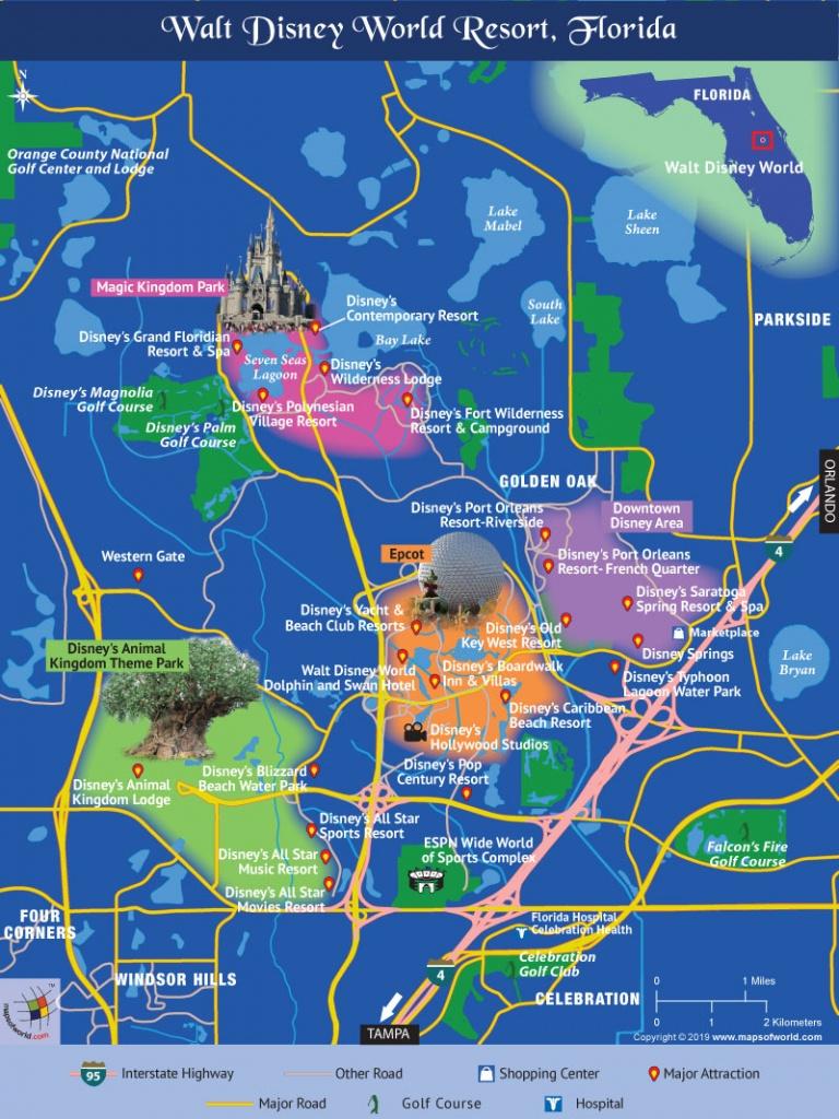 Disney World Map - Disney Resorts Florida Map