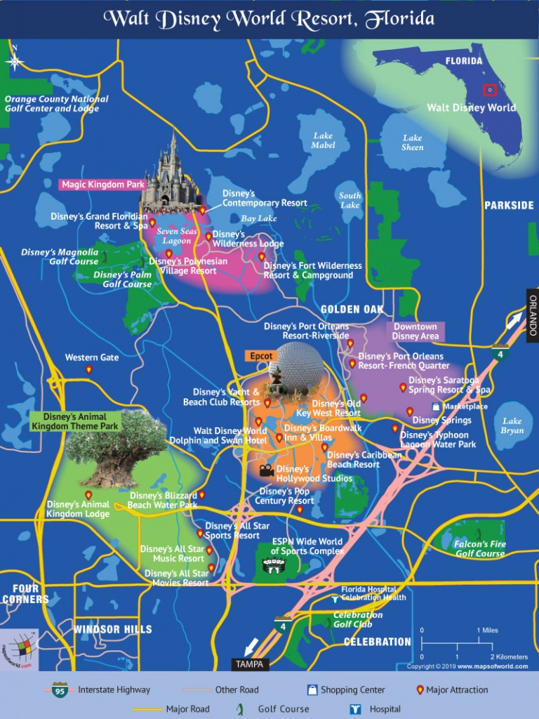 Disney World Map - Disney World Florida Theme Park Maps