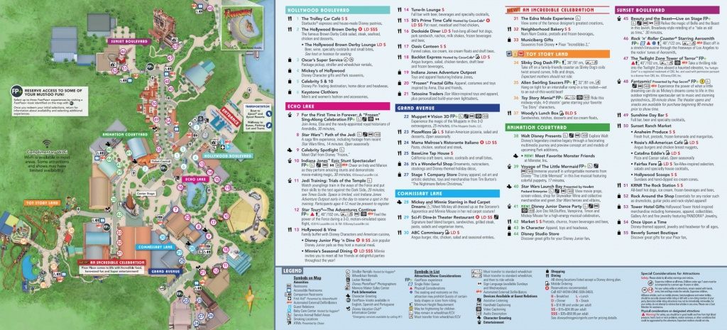 Disney World Map [Maps Of The Resorts, Theme Parks, Water Parks, Pdf] - Walt Disney World Park Maps Printable