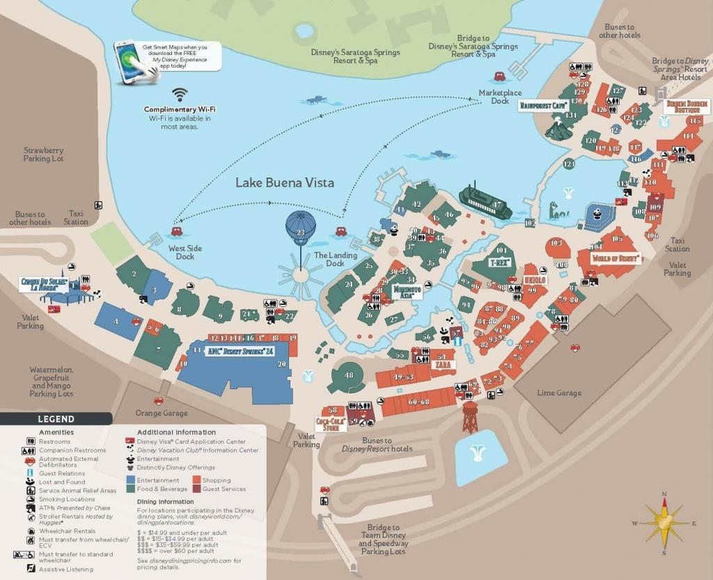 Disney World Maps • Wdw Travels - Disney Springs Map Printable