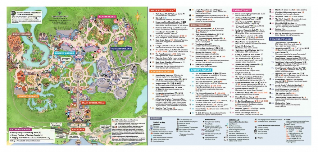 Disney World Maps • Wdw Travels - Printable Magic Kingdom Map 2017