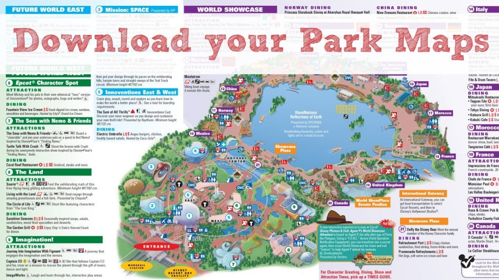 Disney World Maps - Youtube - Walt Disney World Printable Maps